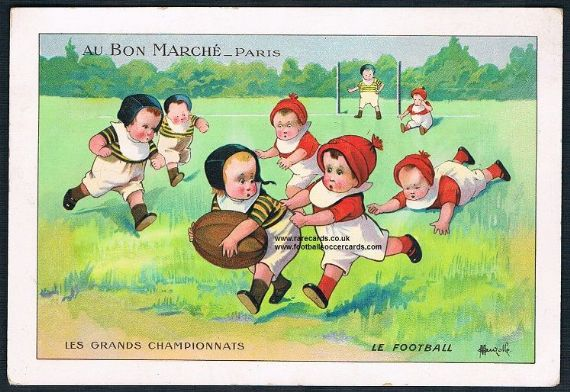 1890's Au Bon Marché Paris very early rugby card